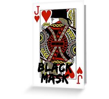 Black mask. Greeting Card