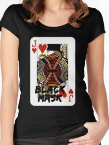 Black mask. Women's Fitted Scoop T-Shirt