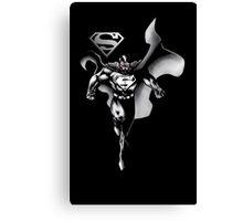 Superman Black and White Canvas Print