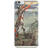 King Arthur's Knights - The Tale Retold for Boys and Girls by Sir Thomas Malory, Illustrated by Walter Crane 407 - Sir Bedever Casts the Sword Excalibur Into the Lake iPhone Case/Skin