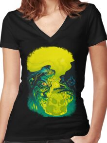 MAD SCIENCE! Women's Fitted V-Neck T-Shirt