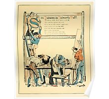 The Buckle My Shoe Picture Book by Walter Crane 1910 47 - Six Joiners in the Joiner's Hall Poster