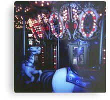 Dark Horse Carousel Metal Print