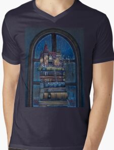 Castle Book Mens V-Neck T-Shirt