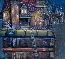 Castle Book Sticker