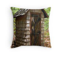 Outhouse Outback Throw Pillow