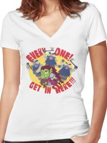 """Hearthstone - """"EVERYONE, GET IN HERE!"""" Women's Fitted V-Neck T-Shirt"""