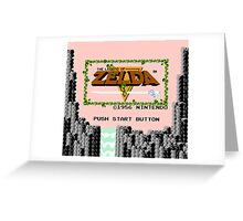 Legend of Zelda: Start Screen Greeting Card