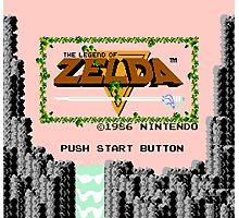 Legend of Zelda: Start Screen Photographic Print