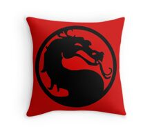 Mortal Dragon Throw Pillow