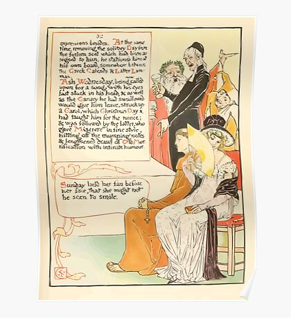 A Masque of Days - From the Last Essays of Elia 1901 illustrated by Walter Crane 39 - Ash Wednesday, Christmas Day Poster