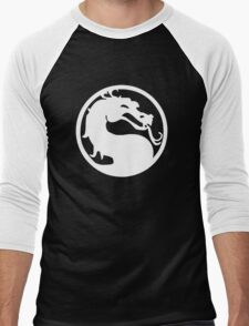 Mortal Dragon (White) Men's Baseball ¾ T-Shirt