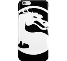 Mortal Dragon (White) iPhone Case/Skin