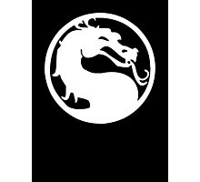 Mortal Dragon (White) Photographic Print