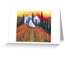 Autumn Tuscany AT Chantemerle Greeting Card