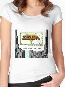 Legend of Zelda: Start Screen Women's Fitted Scoop T-Shirt