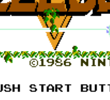 Legend of Zelda: Start Screen Sticker