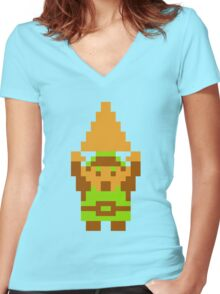 Legend of Zelda: Triforce of Courage Women's Fitted V-Neck T-Shirt