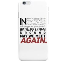 In peace may you leave the shore [...] iPhone Case/Skin
