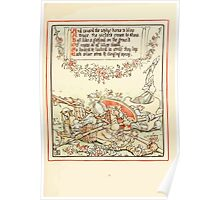 Queen Summer, or, The Tourney of the Lilly and the Rose by Walter Crane 1891 29 - And caused the zephyr horns to blow Poster