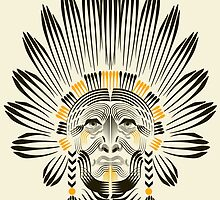 Portrait of American Indian  by #pavel petrov  art2