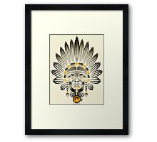 Portrait of American Indian  Framed Print
