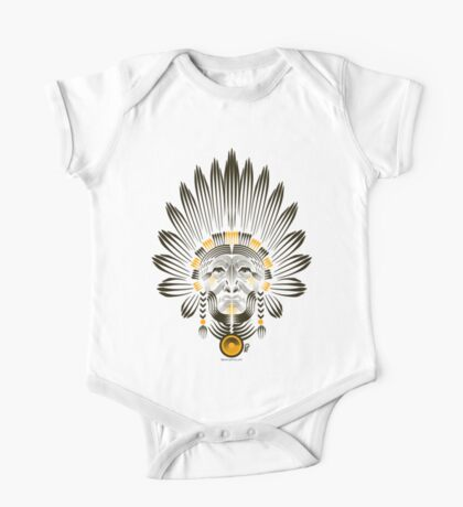 Portrait of American Indian  One Piece - Short Sleeve