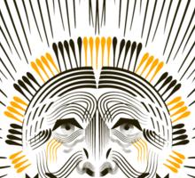 Portrait of American Indian  Sticker