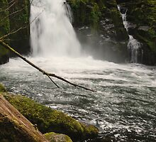 Sweet Creek Falls by Shanti  Deojay