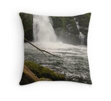 Sweet Creek Falls Throw Pillow