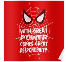 With great power... ( Spider-man ) Poster