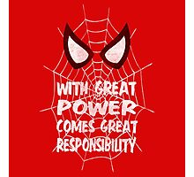 With great power... ( Spider-man ) Photographic Print