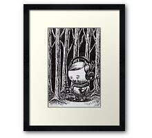 Listening to the Woods Framed Print