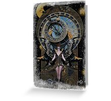 Iaconagraphy: Time Guardians: Steampunk Celestial Greeting Card
