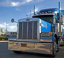 blue commercial truck by mariapar