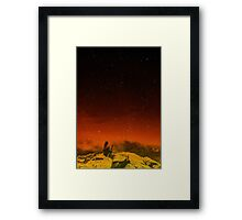 Burning Hill Framed Print