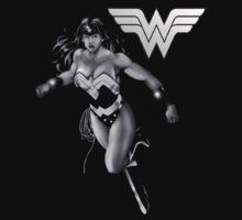 Wonder Woman Black and White Kids Clothes