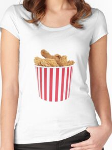 Bucket Of Fried Happiness Women's Fitted Scoop T-Shirt