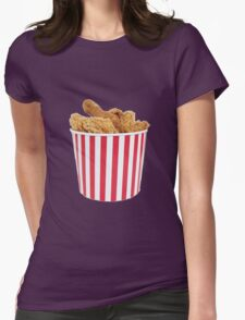Bucket Of Fried Happiness Womens Fitted T-Shirt