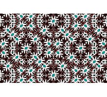 Modern Floral Geometric Pattern Photographic Print