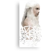 Polygon Portrait - Daenarys Targaryen Canvas Print