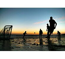 Sunset Soccer Photographic Print