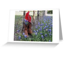 Boots 'n Bluebonnets Greeting Card
