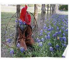 Boots 'n Bluebonnets Poster