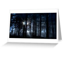 Forest fog. Greeting Card