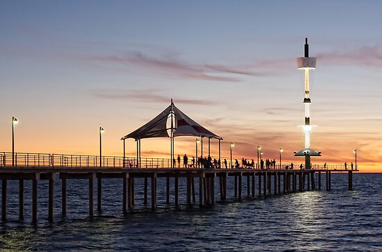 Brighton Jetty Sunset by AllshotsImaging
