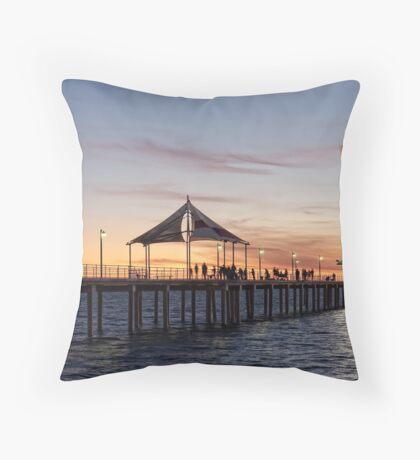 Brighton Jetty Sunset Throw Pillow
