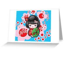 Japanese Doll Greeting Card
