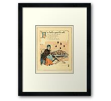 The Buckle My Shoe Picture Book by Walter Crane 1910 46 - Five Beetles Against the Wall Framed Print