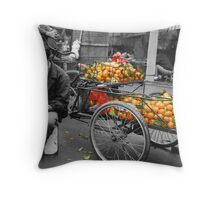 Counting the daily takings - China Throw Pillow